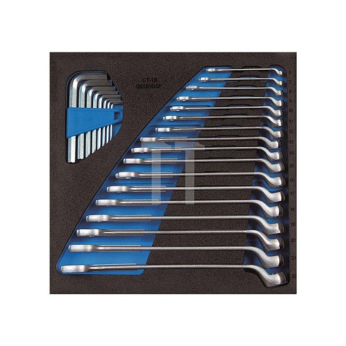Werkzeugmodul 1500 CT2-1 B Ring-Maulschlüsselsatz 25tlg. 6KT UD-Profil Gedore