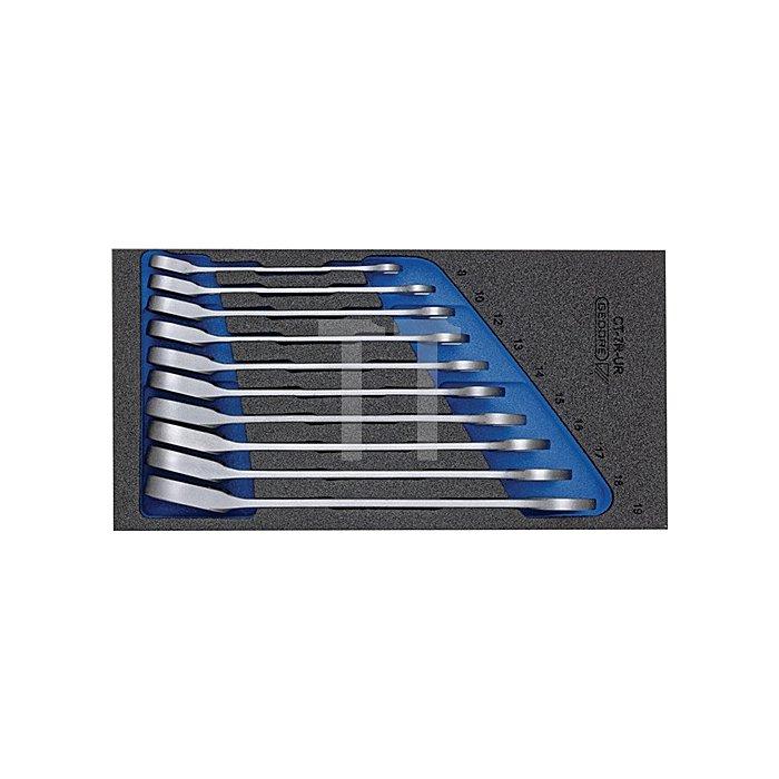 Werkzeugmodul 1500CT1-7 UR Maulschlüssels. 13.tlg umsch.m.Ringratsche UD Gedore
