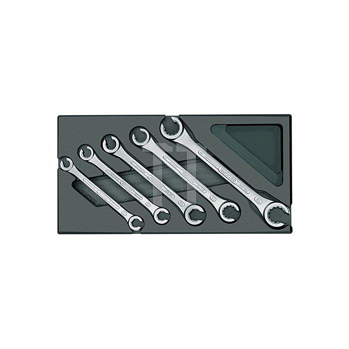 Werkzeugmodul 5tlg. UD-Profil Ringschlüssel Offen