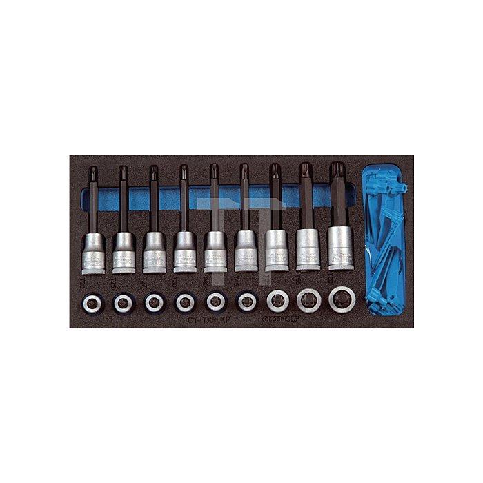 Werkzeugmodul Schraubendrehereinsätze 1/2Zoll 18tlg. TORX f.Werkzeugwagen