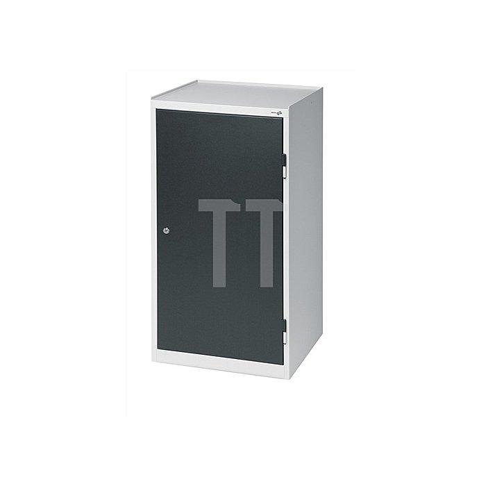 Werkzeugschrank 1000x500x500mm abschließbar 1 Schubl./2 Böden grau/blau