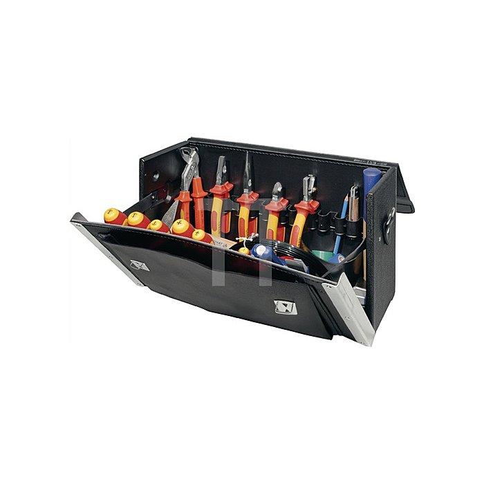 Werkzeugsortiment 46tlg. i.Werkzeugtasche Rindleder/HDPE