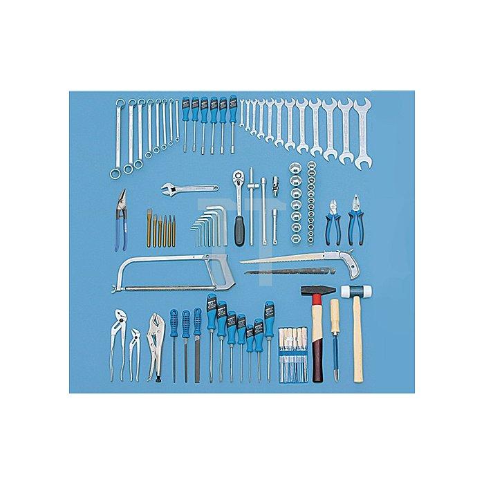 Werkzeugsortiment 92tlg. Zoll GEDORIT blau/Schubladen silber