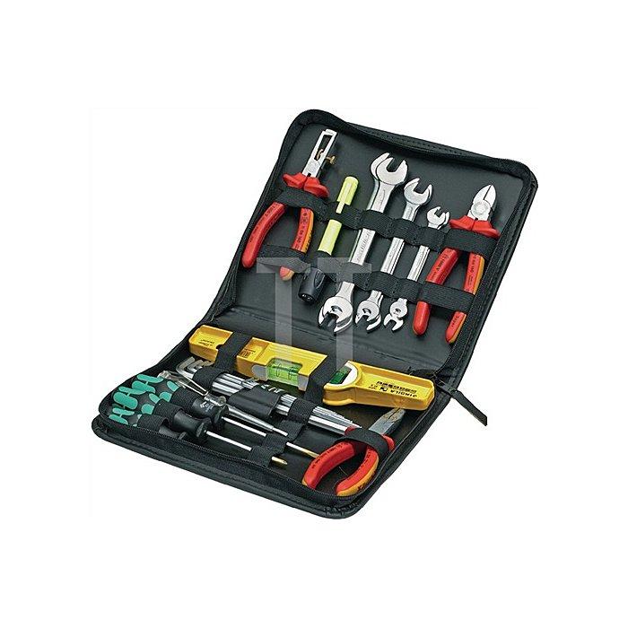 Werkzeugtasche 255x45x225mm aus Kunstleder umlaufender Reißverschluß25 Schlaufen