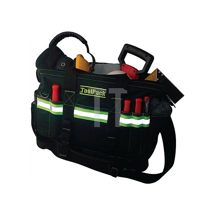 Werkzeugtasche 40x22x31 cm (BxTxH) 27 Aufbewahrungsfächer reflektierend Radiance