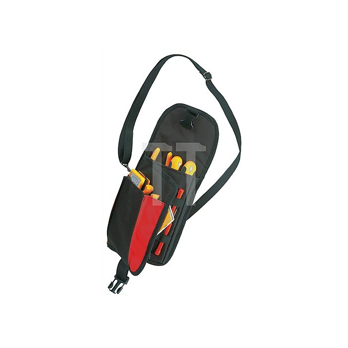 Werkzeugtasche a.PE schwarz/rot B.452x3240xH.180mm PLANO 132g