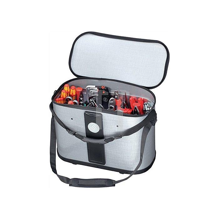Werkzeugtasche B.460xT.230xH.310mm m.herausnehmb. Mittelw.2xCP-7Halter D.11+26mm