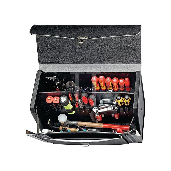 Werkzeugtasche B.470mm T.338mm H.210mm Industrieleder Volumen ca. 33 Liter