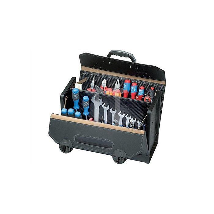 Werkzeugtasche Rindleder ABS schwarz 420x185x315mm PARAT