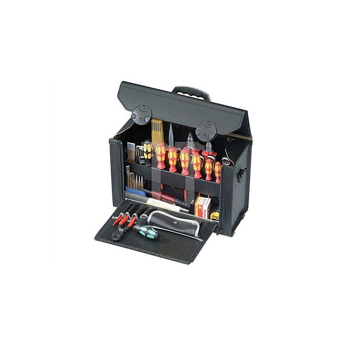 Werkzeugtasche Rindleder Bodenstahlblech 415x165x275mm PARAT