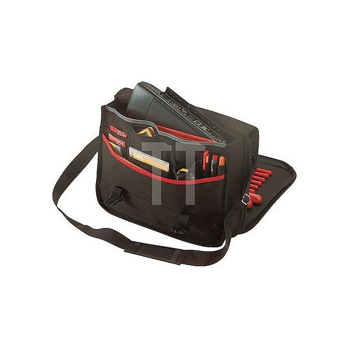 Werkzeugtasche schwarz/rot 320x400x130mm PLANO m.Lap-Top Fach