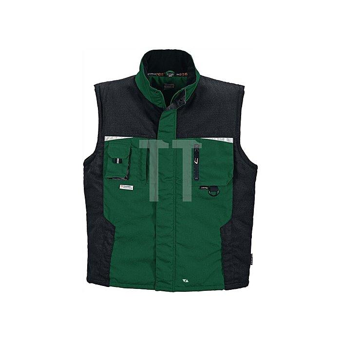 Weste Gr. XL grün/schwarz 65%PES/35%BW
