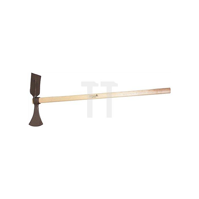Wiedehopfhaue Stiel-L. 1100 mm mit kantigem Blatt und Eschenstiel KWF geprüft