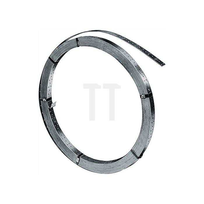 Windrispenband DIN1052 Breite 40mm Dicke 1,5mm feuerverz. Lochgrößen-D.5mm 50m