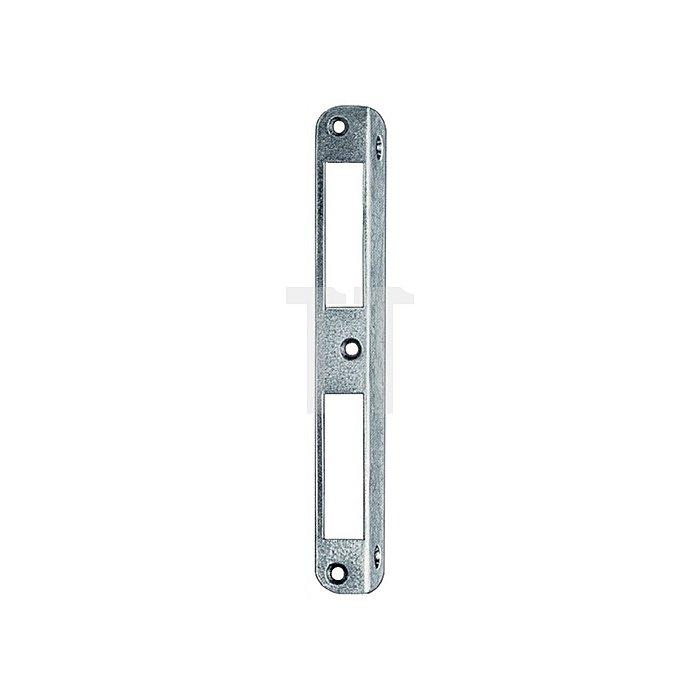 Winkel-Schließblech L.190mm S.1,5mm re./li.verw.Stahl NiSi HT rd.20mm