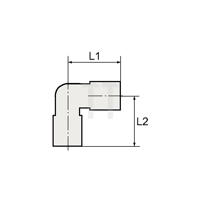 Winkeleinschraubverschraubung G1/2a. / Schlauch-ø 8 Blaue Serie