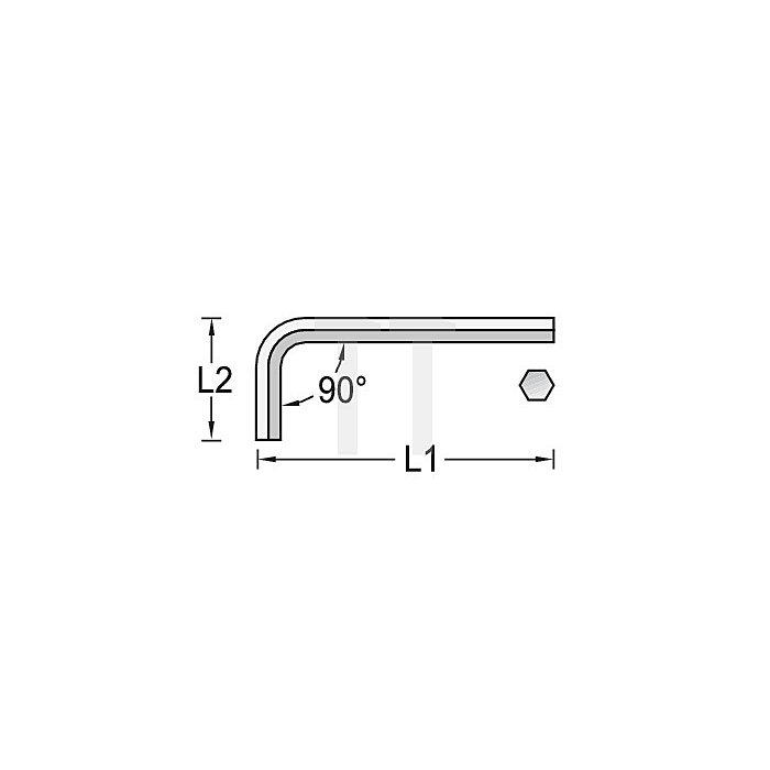 Winkelschraubendreher NC, Innen-6-kant 5mm