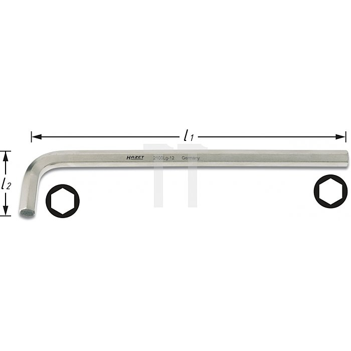 Hazet Winkelschraubendreher s: 10mm 2100LG-10