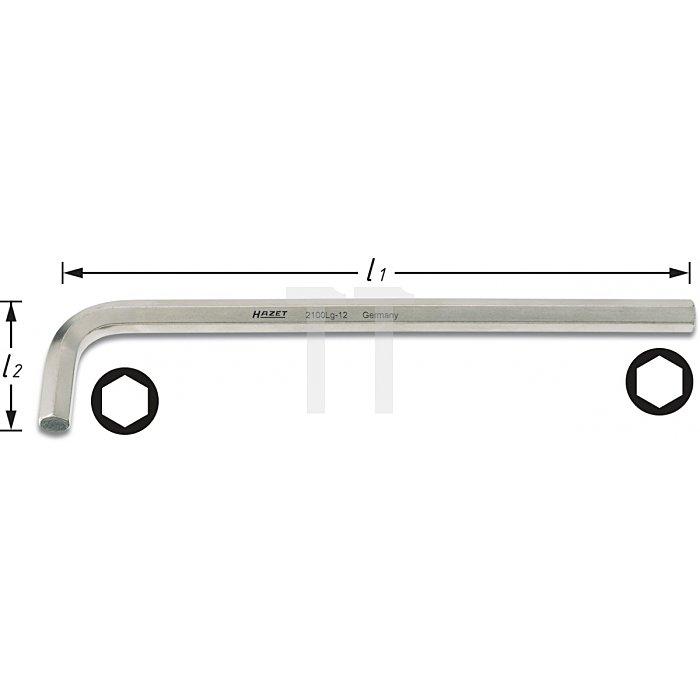 Hazet Winkelschraubendreher s: 12mm 2100LG-12
