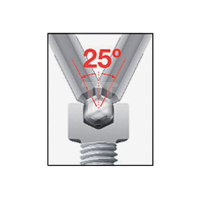 Winkelschraubendrehersatz 7tlg. 6KT-Kugelkopf1,5/2/2,5/3/4/5/6 Klinge matt Chrom