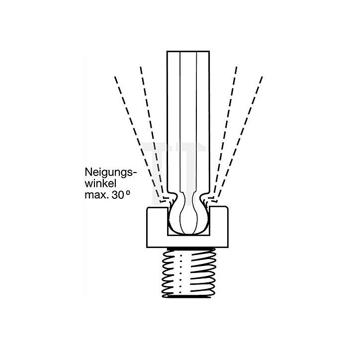Winkelschraubendrehersatz 9tlg. 6KT-Kugelkopf 1,5/2/2,5/3/4/5/6/8 Chrom ErgoStar