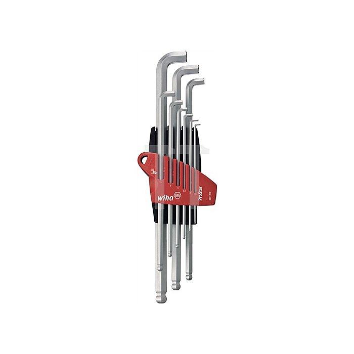 Winkelschraubendrehersatz 9tlg.6KT-Kugelkopf SW 1,5-10mm abgewinkelt extra kurz