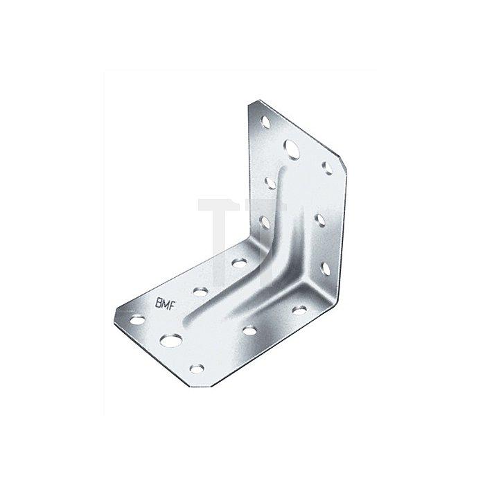 Winkelverbinder ETA 06/0106 Typ ABR90-B 90x90x2,5x65mm feuerverzinkt mit Rippe