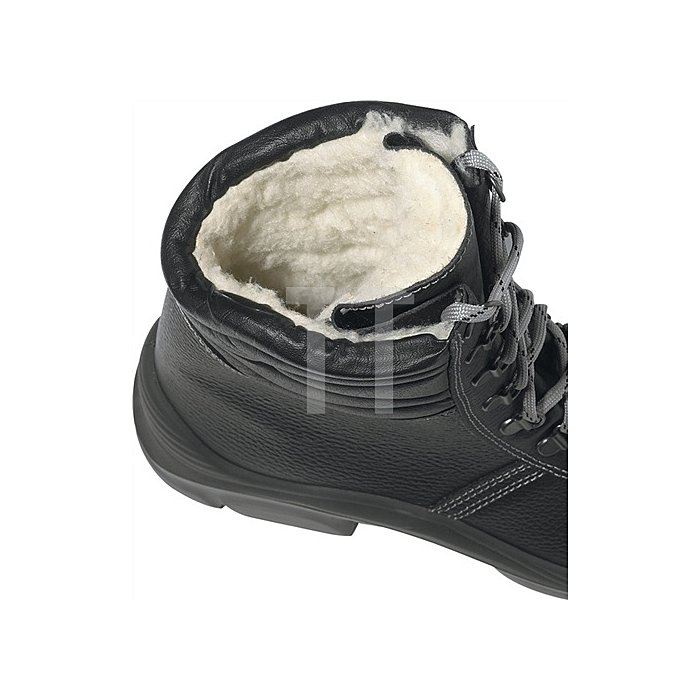 Winterstiefel EN 20345 S3 CI SRC Krotal UK Gr.40 Leder Webpelzfutter schwarz