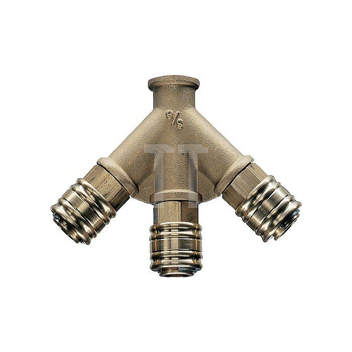 X-Verteiler DN 7,2 Anschluss G 1/2 innen Messing 13mm
