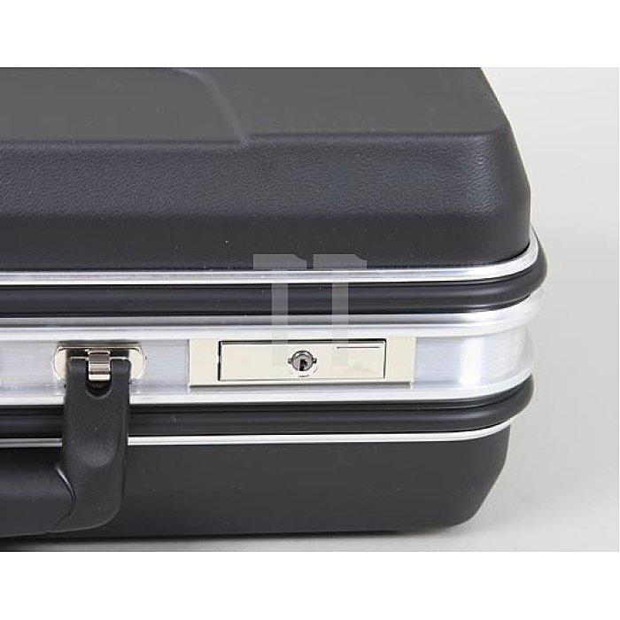 XXL- Schalenkoffer ABS schwarz +Trolley +Zahlenschloss Budget 470 x 220 x 360mm