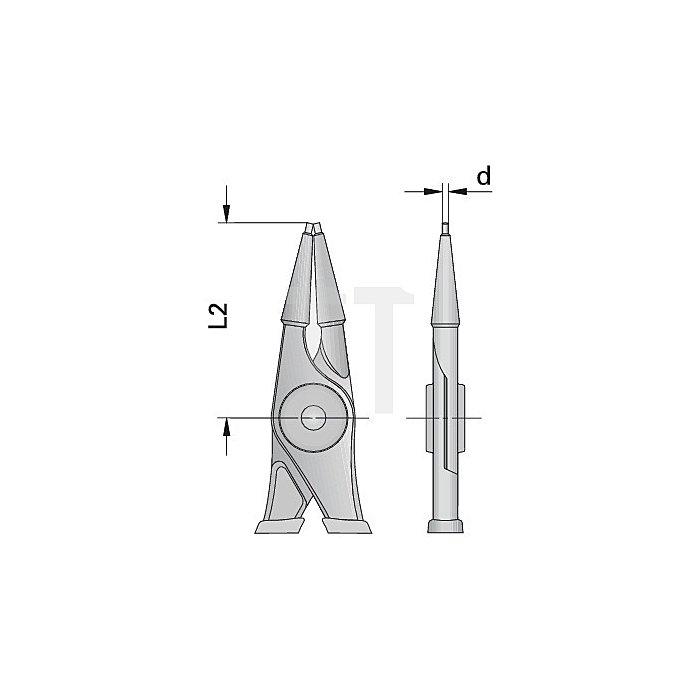 Zange DIN5256 FormC 8010 J 3 gerade 19-60mm L.230mm f.Innensicherungsr. Gedore
