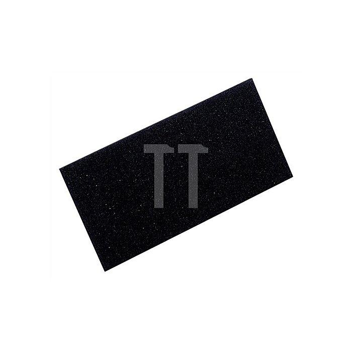 Zellgummiauflage schwarz 280x140x10mm f.Reibebrett