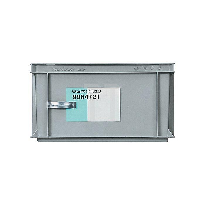 Zettelklammer zur Befestigung f.Transport/Stapelbehälter Metall