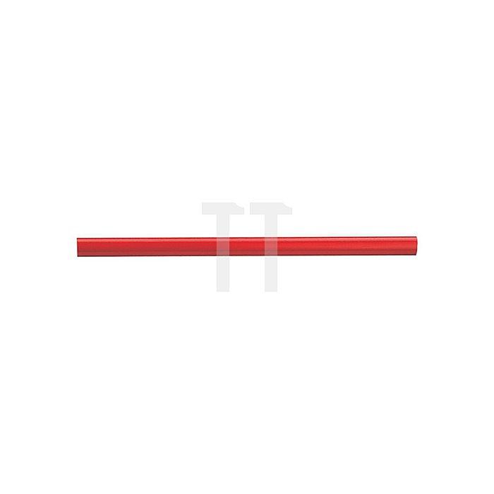 Zimmermannsbleistift L.24cm oval rot pol.