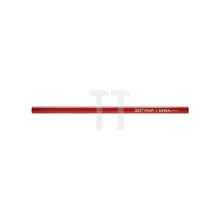 Zimmermannsbleistift L.24cm oval rot pol. LYRA Profi-Qualität