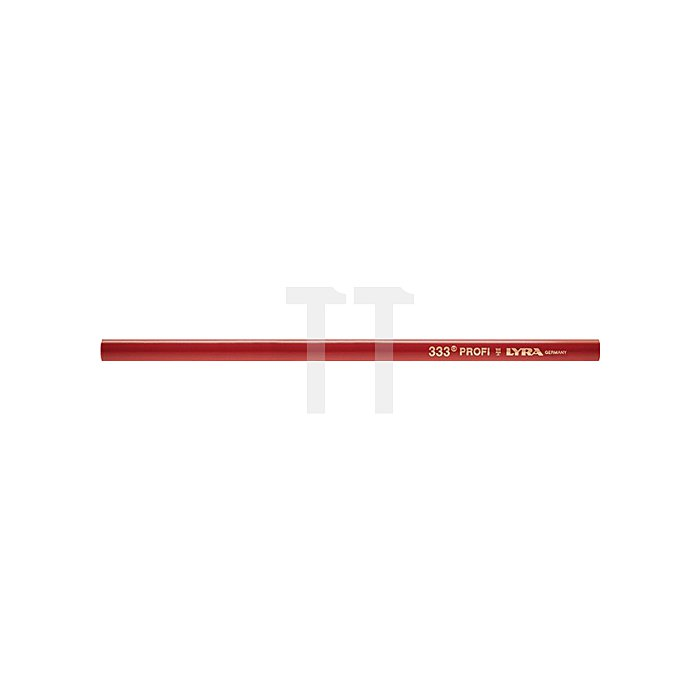 Zimmermannsbleistift L.30cm oval rot pol. LYRA Profi-Qualität