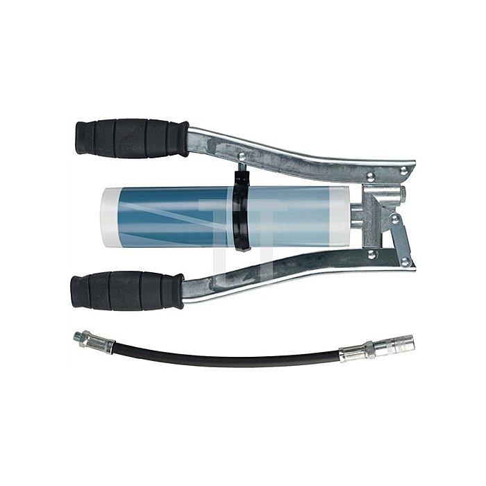 Zweihandpresse Gummipanzerschlauch mit Hydraulikgreifmundstück 11x300mm