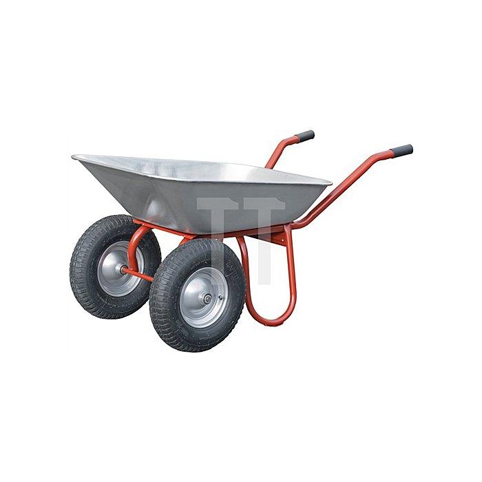 Zweiradkarre DUO 85 Inhalt 85 l Blechstärke 1,0mm Luftrad 400/100 auf Stahlblec