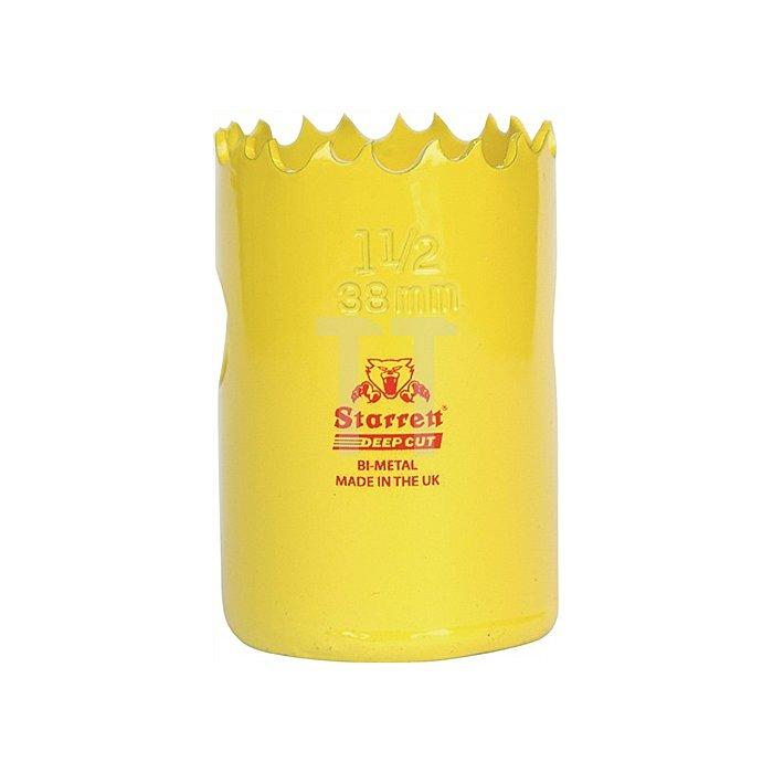 Zylindersäge HSS Bi-Metall D.22mm Schnitt-T.41mm 6Z./Zoll gelb lackiert