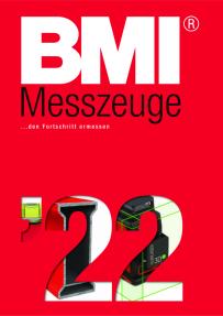 BMI Taschenbandmaß - twoCOMP, - 3m/10ft, mm/inch, rot/Schwarz, mit Clip, SB-verpackt 472351021