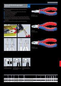 KNIPEX 00 20 18 Elektronikzangen-Set f/ür Arbeiten an elektronischen Bauteilen