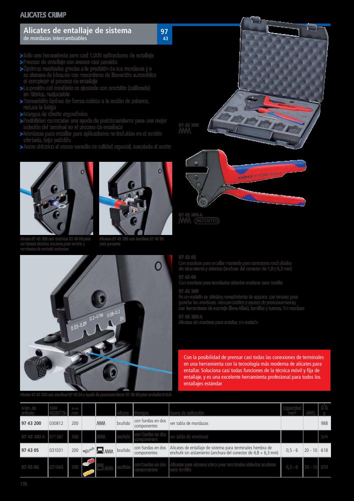KNIPEX 97 49 24 Mordaza intercambiable para enchufes D-Sub