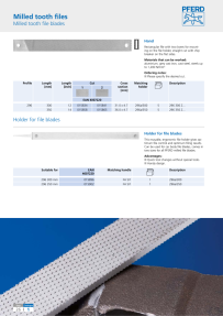 Pferd 14203050 Carbide File Holder HMFH 50