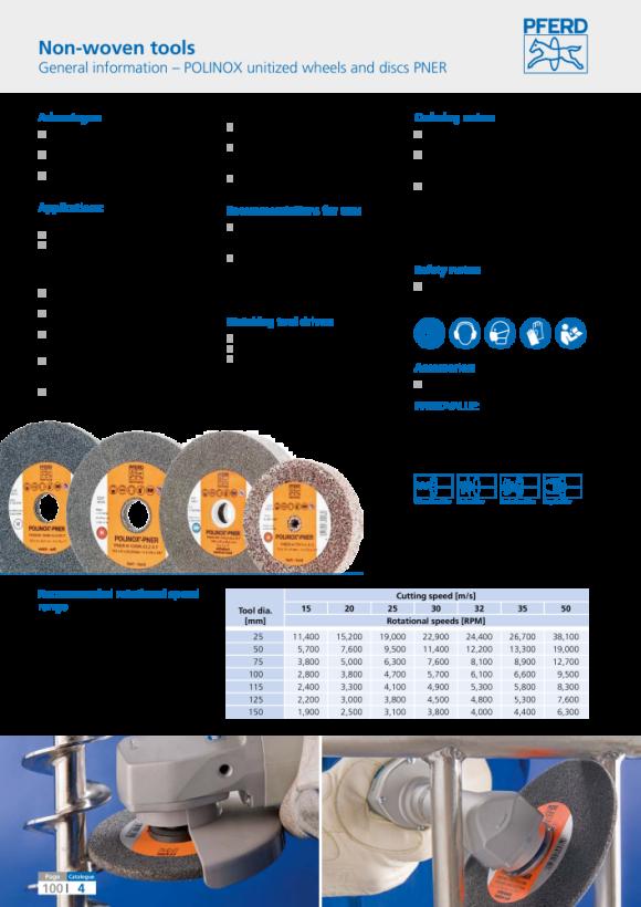 PFERD POLINOX-Kompaktschleifrad PNER-H 15025-25,4 A G 44691061