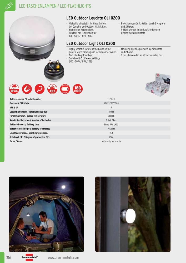 brennenstuhl Hauptkatalog Steckdosen Leuchten Elektrotechnik - Page 316