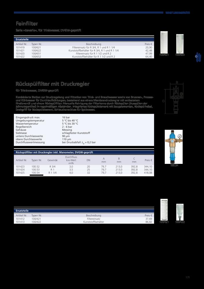 Riegler Hauptkatalog Drucklufttechnik Pneumatik - Page 191
