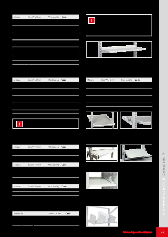 Treston Verstellbarer Regalboden M900, 92049011P