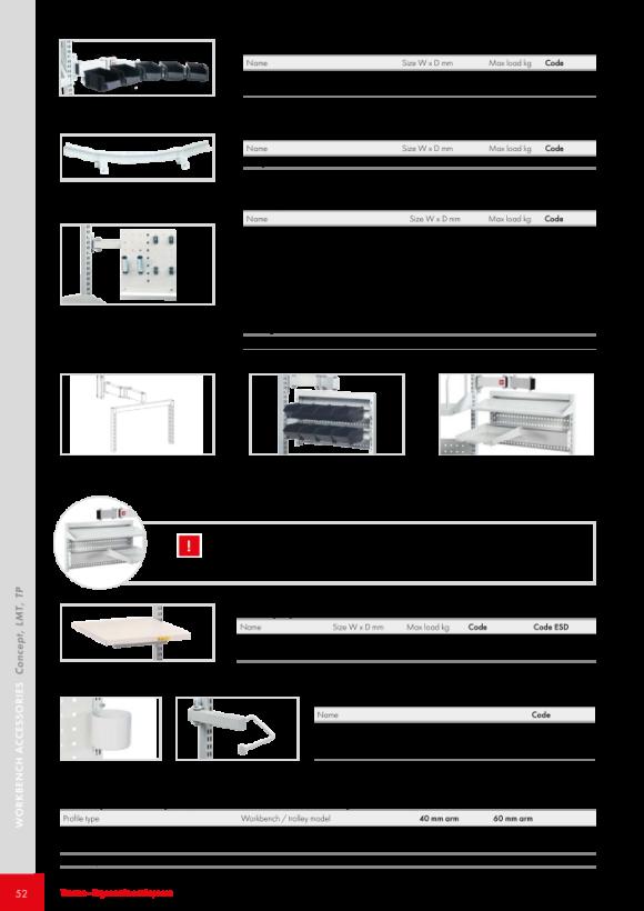 Treston Rollenhalter-Set für Rasterrohre M900, 890548-49P