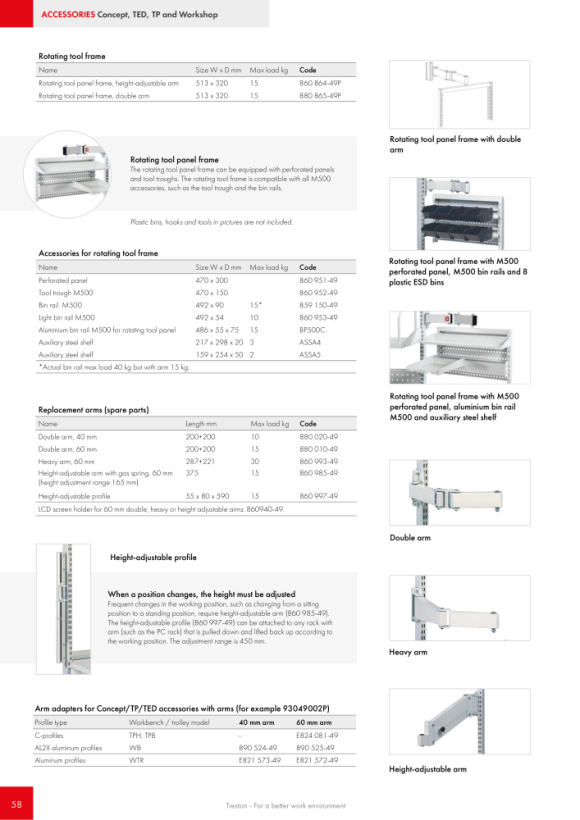 Treston Unterteiler Set 3 - passend für Schubladen 45/100, 872993-49