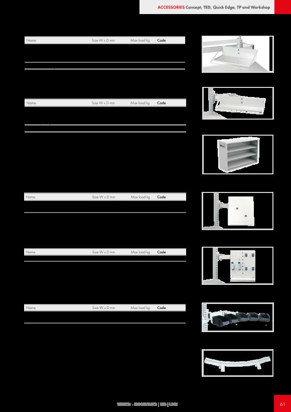 Treston Unterteiler-Set 3 für Schublade 55/100, 873003-49